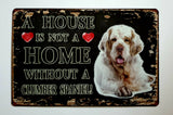 Classic Vintage Metal Tin Signs - Various Breeds & Designs