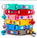 Love Heart Print Puppy Collars Sets of 6 or Single Collars From