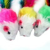 Colourful Cat Mouse Mice with Feathers