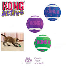 KONG Active Cat Balls with Bell (Pack of 3)