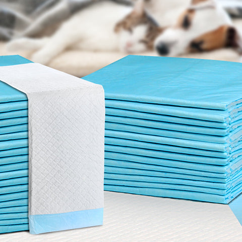 Large Absorbent Puppy Pad with Adhesive Tape Corners Pack of 10, 25 or 100
