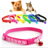 Paw Print Puppy Collars Set of Six or Single Collars from
