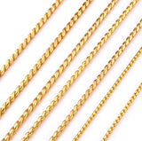18ct Gold Plated Show Snake Chains VARIOUS SIZES from