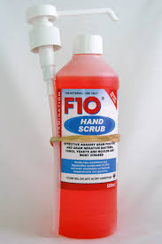 F10 Hand Scrub 500 ml - Water Required.