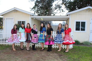 Girls in Square Dance Clothing