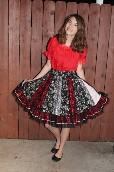 Girl in Square Dance Dress