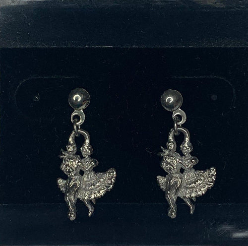 Silver Dangling Square Dancer Earrings, Jewelry - Square Up Fashions