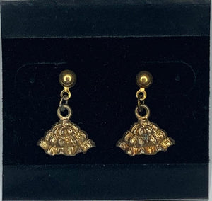 Gold Dangling Square Dance Petticoat Earrings, Jewelry - Square Up Fashions