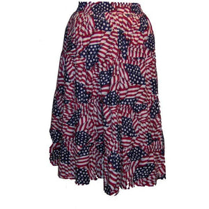 Flag Print Prairie Skirt, Prairie - Square Up Fashions