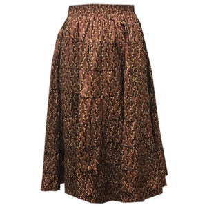 Assorted Print Prairie Skirt, Prairie - Square Up Fashions