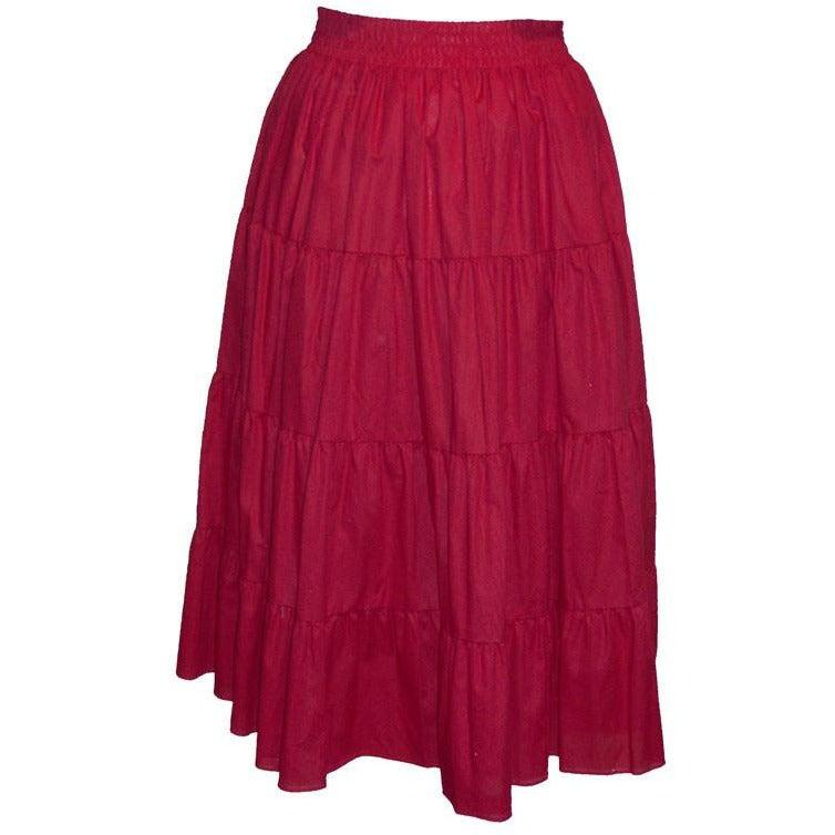 Basic 4 Tier Prairie Skirt, Prairie - Square Up Fashions