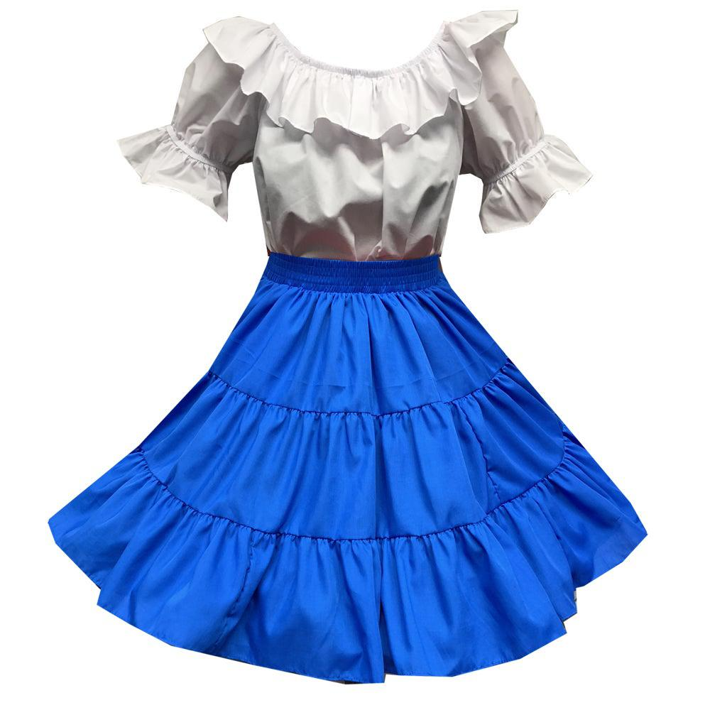 Basic Square Dance Outfit w/White Blouse, Set - Square Up Fashions
