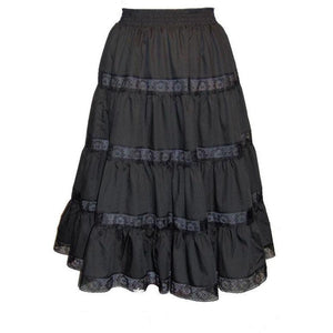 4 Tier Lace Prairie Skirt, Prairie - Square Up Fashions