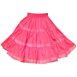 3 Tier Lace Square Dance Skirt, Skirt - Square Up Fashions