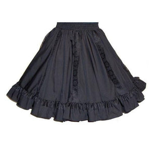 8 Gore Lace Square Dance Skirt, Skirt - Square Up Fashions