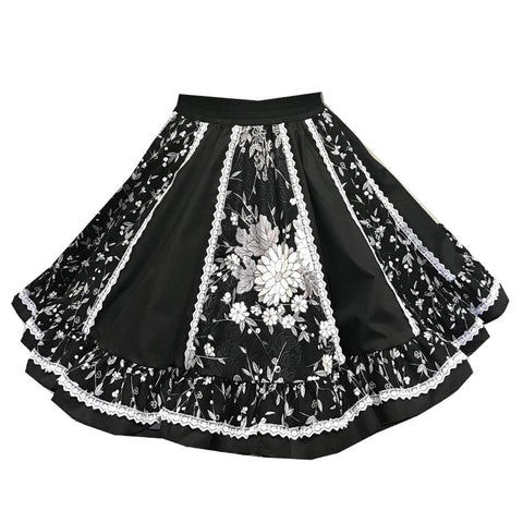 Style # 6640 Floral Square Dance Skirt
