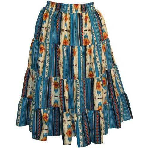 Southwest Santa Fe Prairie Skirt, Prairie - Square Up Fashions