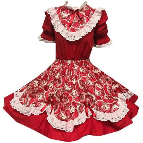 Red Scalloped Square Dance Outfit, Set - Square Up Fashions