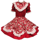 Red Scalloped Square Dance Outfit