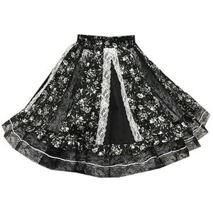 Black Lace Gore Square Dance Skirt, Skirt - Square Up Fashions