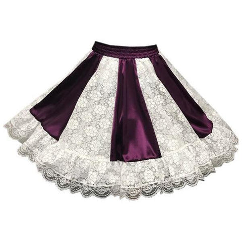 Style 441 Charmeuse Square Dance Skirt