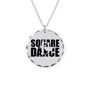 Square dance Necklace Circle Charm, Jewelry - Square Up Fashions