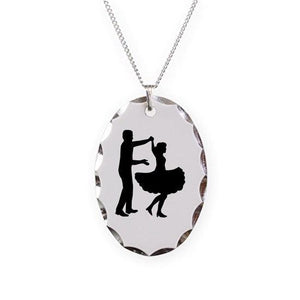 Square dancing Necklace Oval Charm, Jewelry - Square Up Fashions