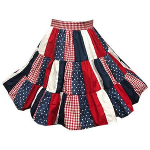 Assorted Patchwork Square Dance Skirt, Skirt - Square Up Fashions