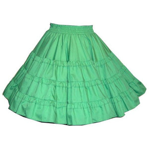 Double Ruffle Square Dance Skirt, Skirt - Square Up Fashions