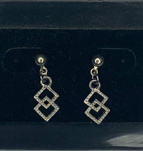 Silver Dangle Square & Round Dance Earrings, Jewelry - Square Up Fashions