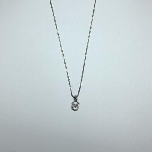 Silver Square & Circle Necklace, Jewelry - Square Up Fashions