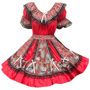 Red Timeless Ruffled Square Dance Outfit, Set - Square Up Fashions