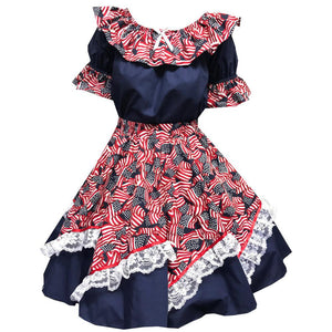 Red, White & Blue Square Dance Outfit, Set - Square Up Fashions