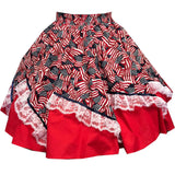 Red, White & Blue Square Dance Skirt