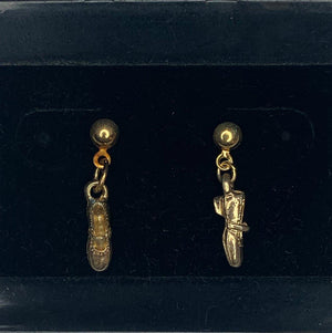 Gold Dangle Square Dance Shoe Earrings, Jewelry - Square Up Fashions