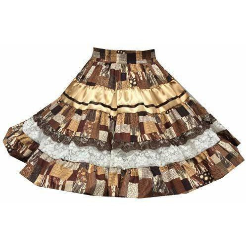 Fall Patchwork Square Dance Skirt, Skirt - Square Up Fashions