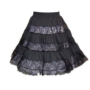 Overall Lace Square Dance Skirt, Skirt - Square Up Fashions