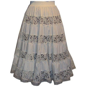 Overall Lace Prairie Skirt, Prairie - Square Up Fashions