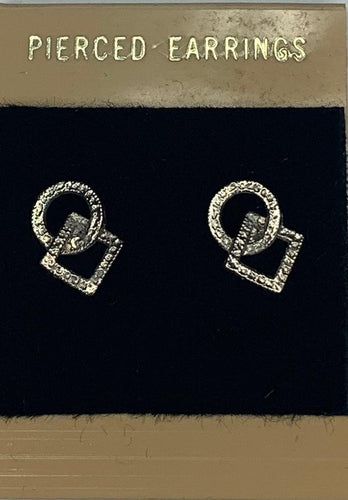 Silver Post Square & Round  Dance Earrings, Jewelry - Square Up Fashions