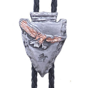 Tri-color Eagle Arrowhead Bolo, Bolo Ties - Square Up Fashions