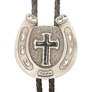 Horseshoe Cross Bolo, Bolo Ties - Square Up Fashions