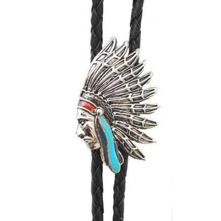 Indian Head Bolo Tie, Bolo Ties - Square Up Fashions