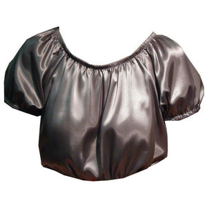 Shiny Charmeuse Peasant Blouse, Blouse - Square Up Fashions