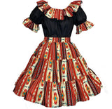 Southwest Santa Fe Square Dance Outfit, Set - Square Up Fashions