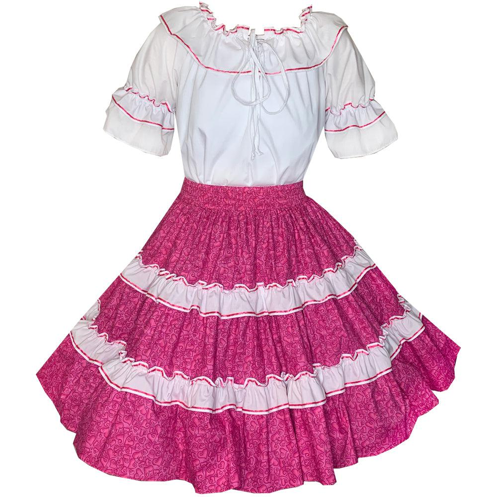 Hearts Galore Square Dance Outfit
