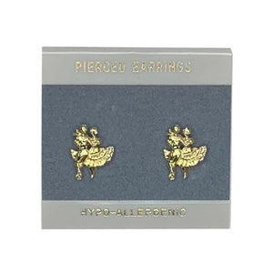 Square Dancer Gold Earrings, Jewelry - Square Up Fashions
