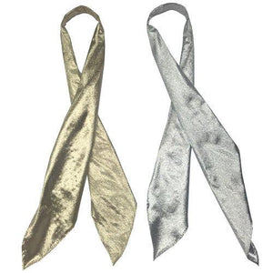 Shiny Metallic Tie, Accessories - Square Up Fashions