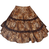 Leopard Print Square Dance Skirt