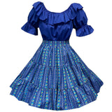 Geometric Stripe Square Dance Outfit, Set - Square Up Fashions