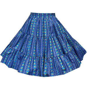 Geometric Stripe Square Dance Skirt, Skirt - Square Up Fashions